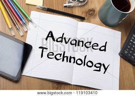 Advanced Technology - Note Pad With Text