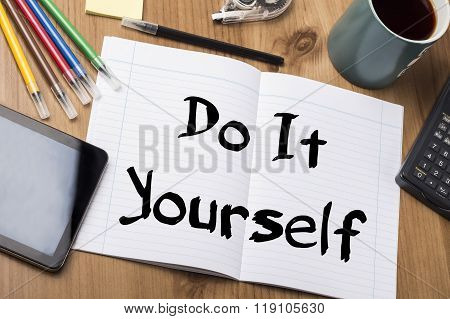 Do It Yourself - Note Pad With Text