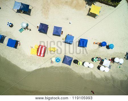 Top View of Rio de Janeiro Beach, Brazil