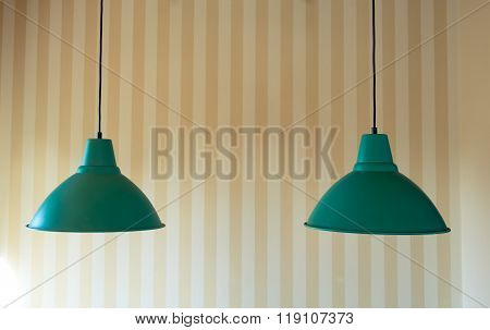 Two Modern Ceiling Lamp For Interior Decoration