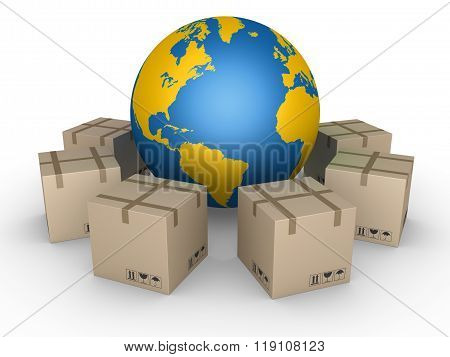 Distribution Of Parcels All Over The World