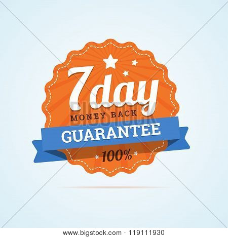 Seven day guarantee money back badge.