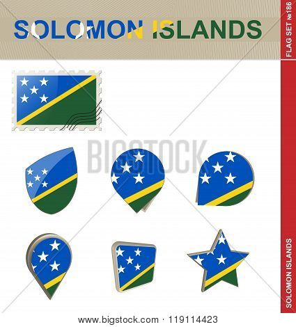 Solomon Islands Flag Set, Flag Set #186