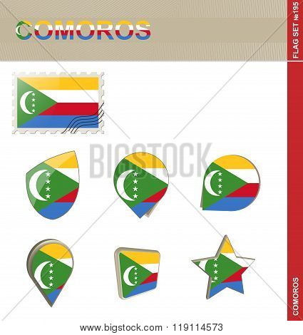 Comoros Flag Set, Flag Set #195