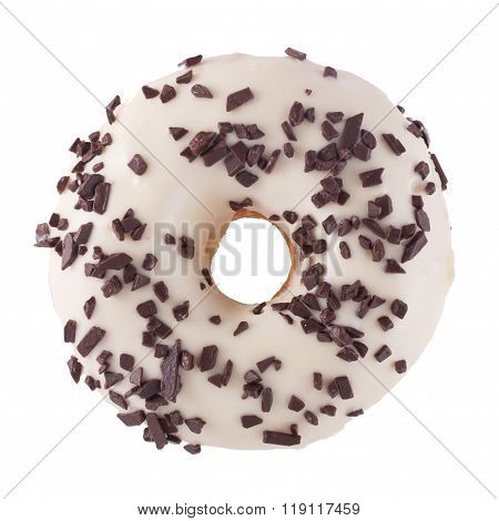 Donut In Wight Chocolate With Chips