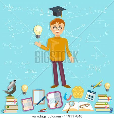 Education Schoolboy Goes To School Effective Education Power Of Knowledge