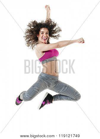woman dancer dancing fitness exercises