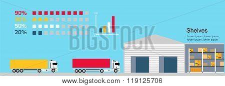 Concept Infographics Equipment Warehouse