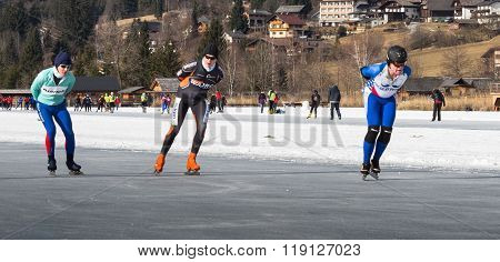 Some Skaters On The Ice In Austria