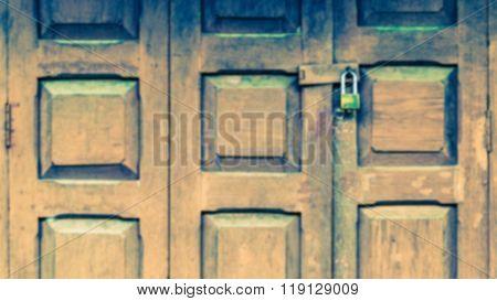 blurry old grunge folding doors