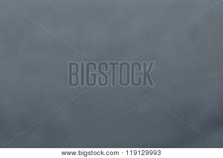 Grained Textured Background From Fabric Of Silvery Monochrome Color