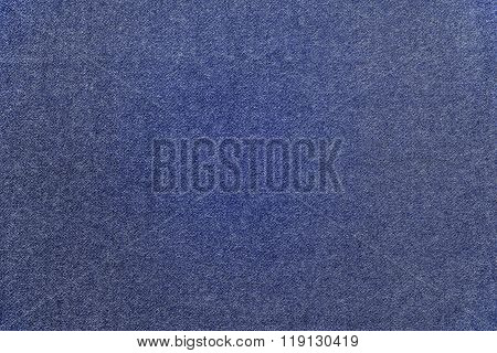Speckled Textured Monochrome Background From Fabric Of Blue Color