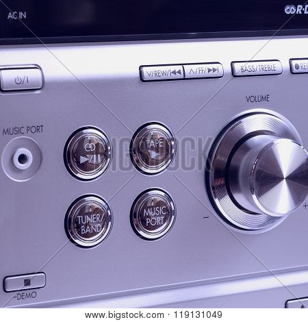 Hand On Sound Volume Control Knob