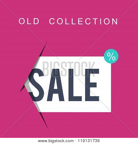 Super Sale Banner On Colorful Background