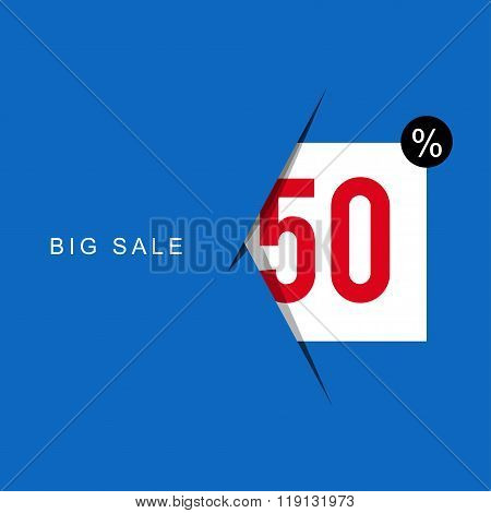 Big Sale Banner On Colorful Background