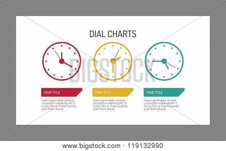 Clock Dial Chart Template