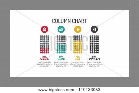 Column chart template 3