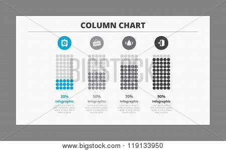 Four Column Chart Template