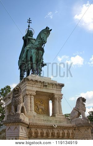 Statue Of King St. Stephan, Budapest, Hungary
