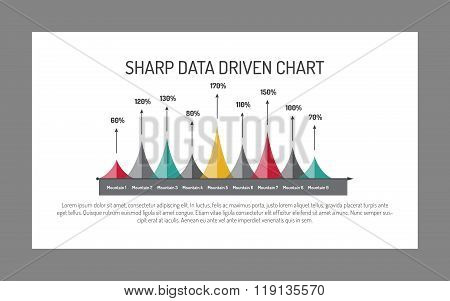 Sharp Mountain Data Chart Template