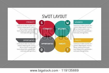 Simple Swot Layout Template