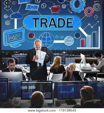 Trade Swap Deal Exchange Merchandise Commerce Concept