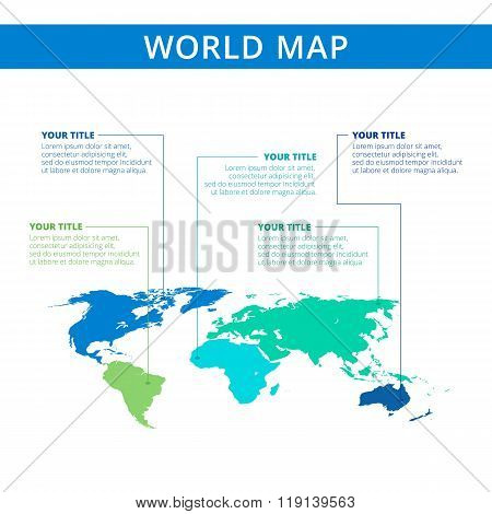 World map template 2