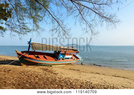 Fishing Boat Aground