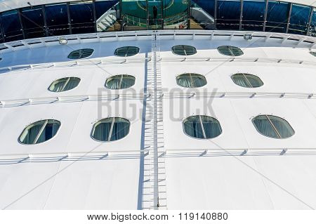 Glass Bridge Over Bow Of Ship