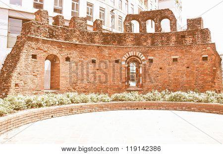 St Giovanni In Conca Ruins, Milan Vintage