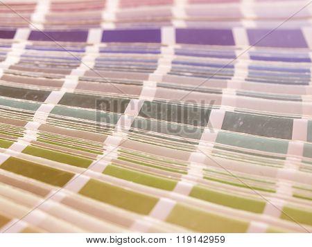 Color Table Vintage