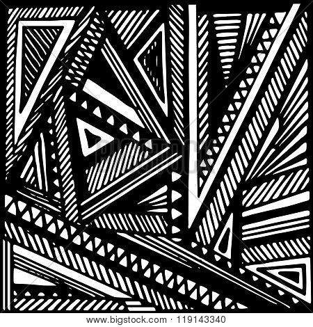 geometric grayscale background