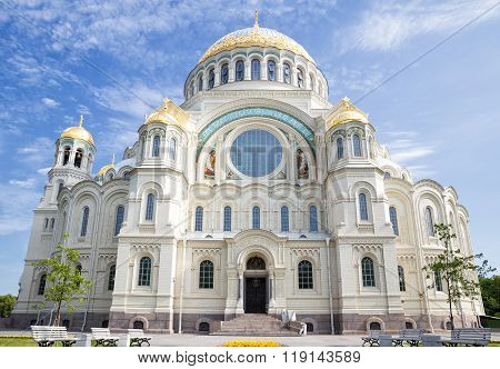 Naval Cathedral Of Saint Nicholas In Kronstadt