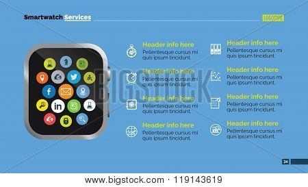 Smartwatch services slide template