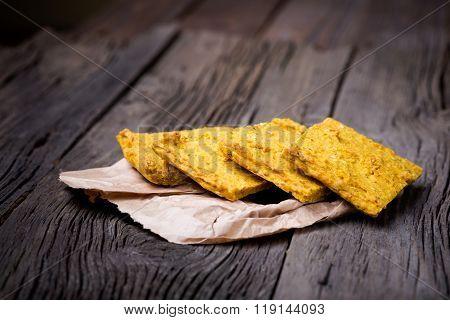 Natural homemade delicious millet gruel bread