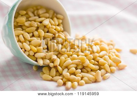 pine nuts in a bowl