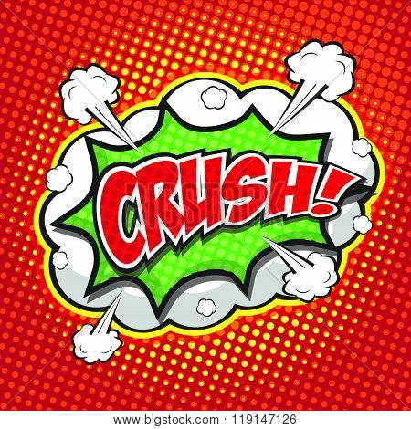 CRUSH! wording sound effect