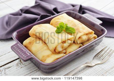 Stack Of Stuffed Pancakes