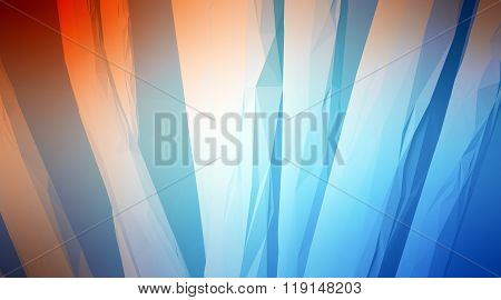 Photo of highly detailed multicolor polygon. Abstract architecture background. Internal space oF a c