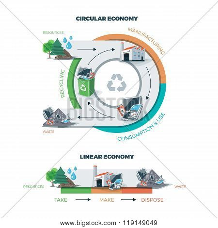 Circular And Linear Economy