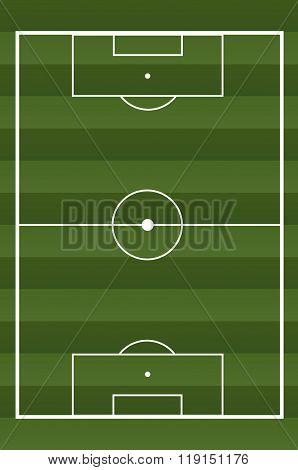 Soccer textured field