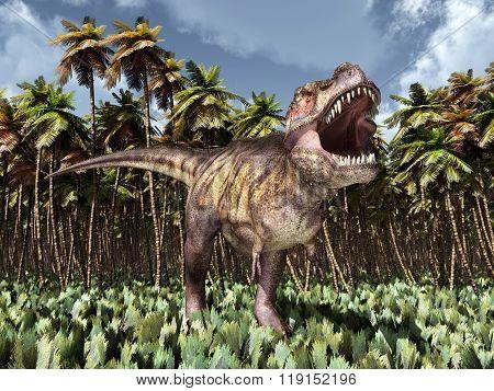Tyrannosaurus Rex in the jungle