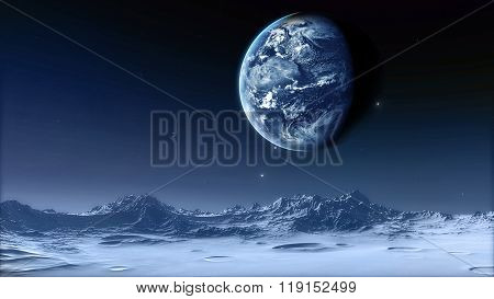 Moon Elements of this image furnished by NASA