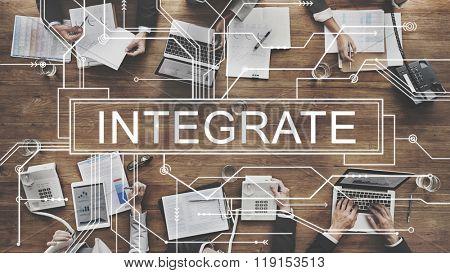 Integrate Circuit Board Graphics Concept