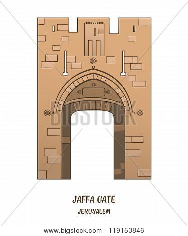 Jaffa Gate In Jerusalem