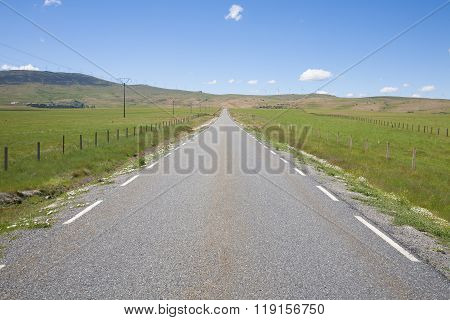 Long Straight Rural Road