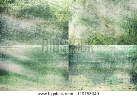 Green Colored Grunge Texture Backgrounds