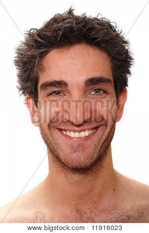 Man with a happy facial expression