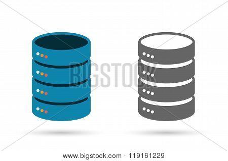 Data storage flat icon