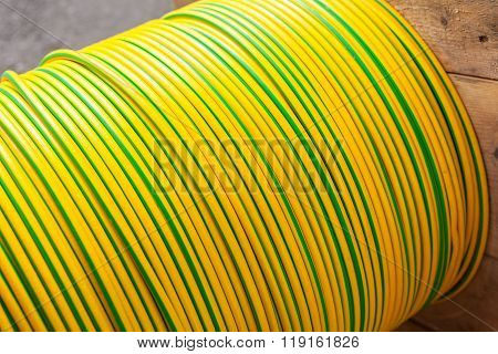 Large Spool Of Electric Cable